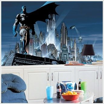 @rosenberryrooms is offering $20 OFF your purchase! Share the news and save!  Batman Chair Rail XL Wall Mural #rosenberryrooms