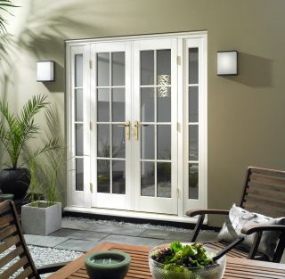 25 best ideas about exterior french patio doors on for Sliding french doors with sidelights