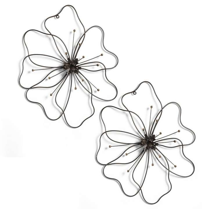 Metal Wall Art Flowers metal poppy wall art - shenra