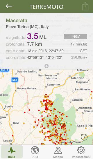 18 minuti fa si è verificata una scossa sismica di intensità 3.5 a Pieve Torina (MC), Italy (Macerata)