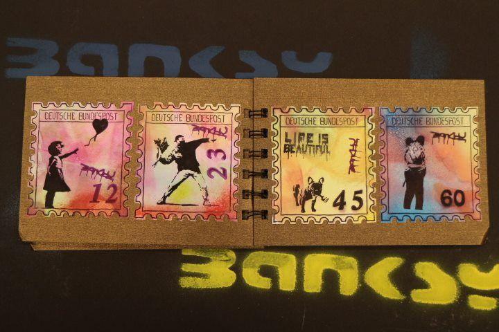 """#banksy  """"Briefmarken"""""""