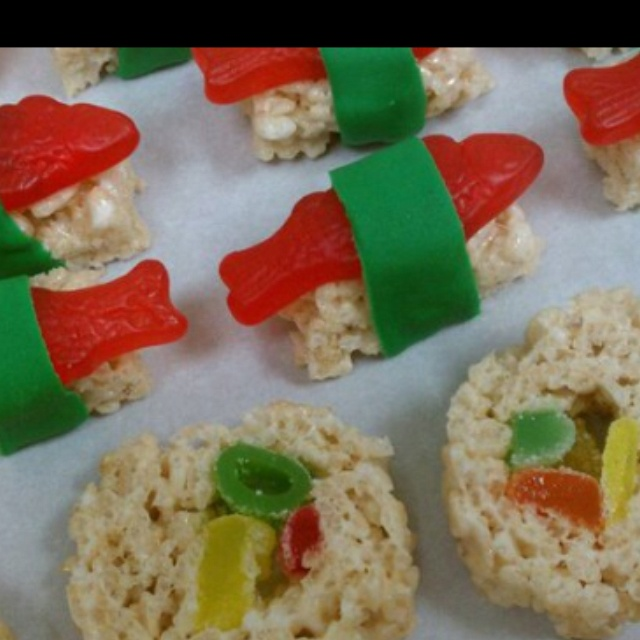 Sushi Rice Krispie Treats | Birthday Party Ideas | Pinterest