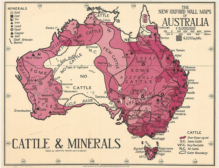 Cattle and minerals distribution map