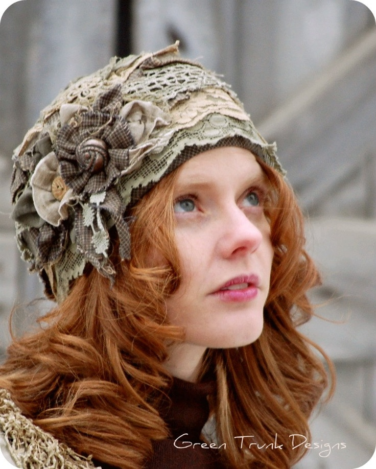 Forest Fairy Cloche Hat. i would totally wear this