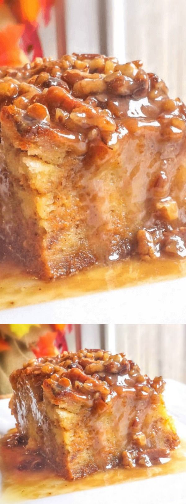 This Pumpkin Praline Bread Pudding recipe from Flavor Mosaic is one heck of an impressive dessert! It's so incredibly easy to make and it comes out of the oven rich and completely delicious.