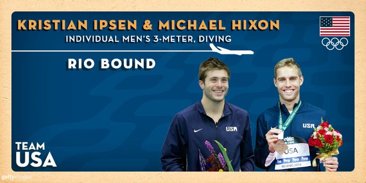 Kristian Ipsen Makes Second Olympic Team, Michael Hixon Adds Second Event