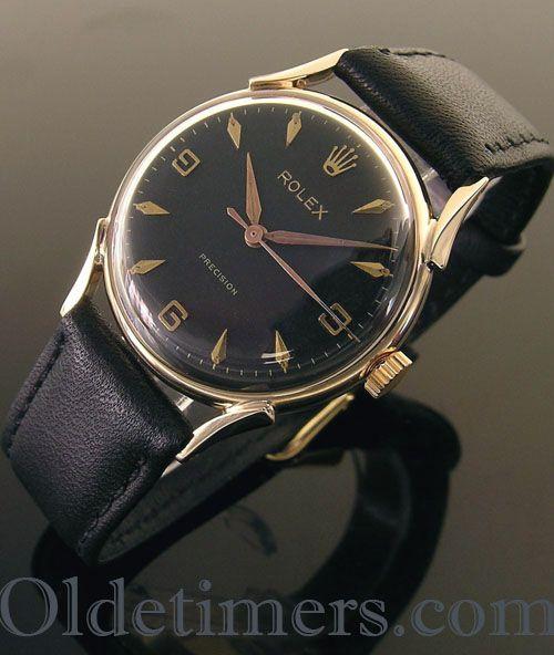 1950s 9ct gold round vintage Rolex Precision watch