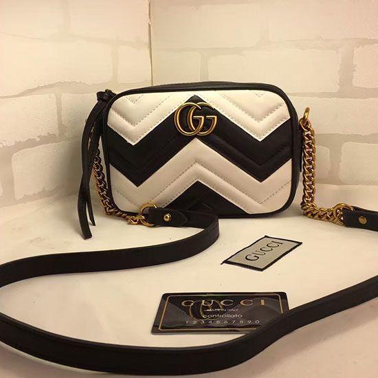 87d5e184d Gucci GG Marmont Matelasse Mini Bag 448065 | Gucci Bags in 2019 ...