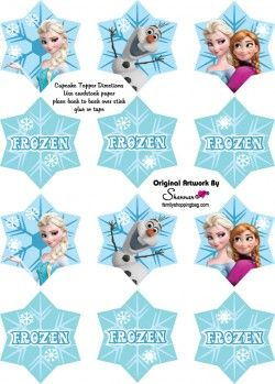 Frozen {free} printable Cupcake Toppers