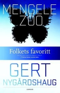 Mengele Zoo - Gert Nygårdshaug  http://www.adlibris.com/no/product.aspx?isbn=8202278031   Tittel: Mengele Zoo - Forfatter: Gert Nygårdshaug - ISBN: 8202278031 - Vår pris: 121,-