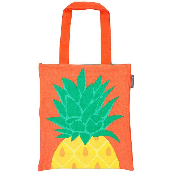 Tote Bag in Pineapple design by SunnyLIFE (€18) ❤ liked on Polyvore featuring bags, handbags, tote bags, totes, summer purses, summer totes, beach purse, green tote bag and summer beach tote