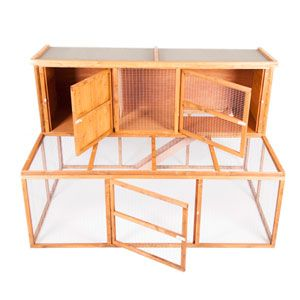 Sycamore Lodge Single Hutch and Double Run by Pets at Home from Pets At Home