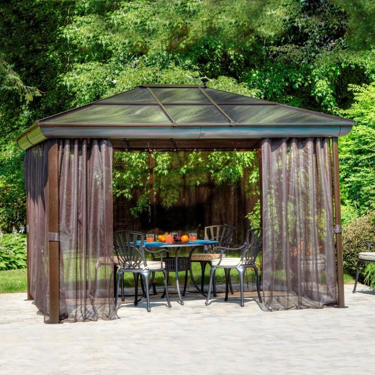 18 best images about gazebos on pinterest gardens for Abri mural hardtop gazebo
