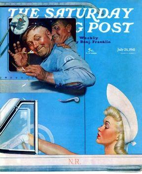 Les chauffeurs de camion flirtent avec femme convertible
