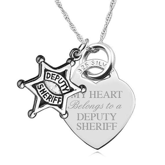 My Heart Belongs to a Deputy Sheriff 925 by JewelryPersonalised, $49.99