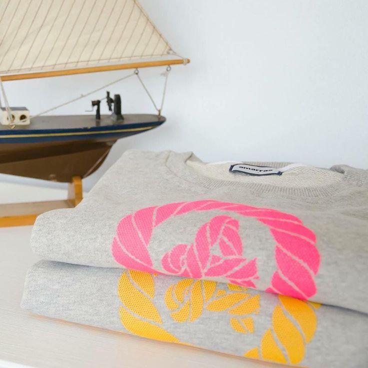 /Sudadera Amarras Trian/ Dos colores disponibles: Gris/Rosa y Gris/Naranja.  Antes: 72 Ahora: 49  Últimas unidades disponibles.  #amarrassales#amarras#rebajas#jorgejuan#madrid#shoponline#fashionfromspain#sudadera#sweatshirt#nudomarinero#sailor by amarrasfashionfromspain