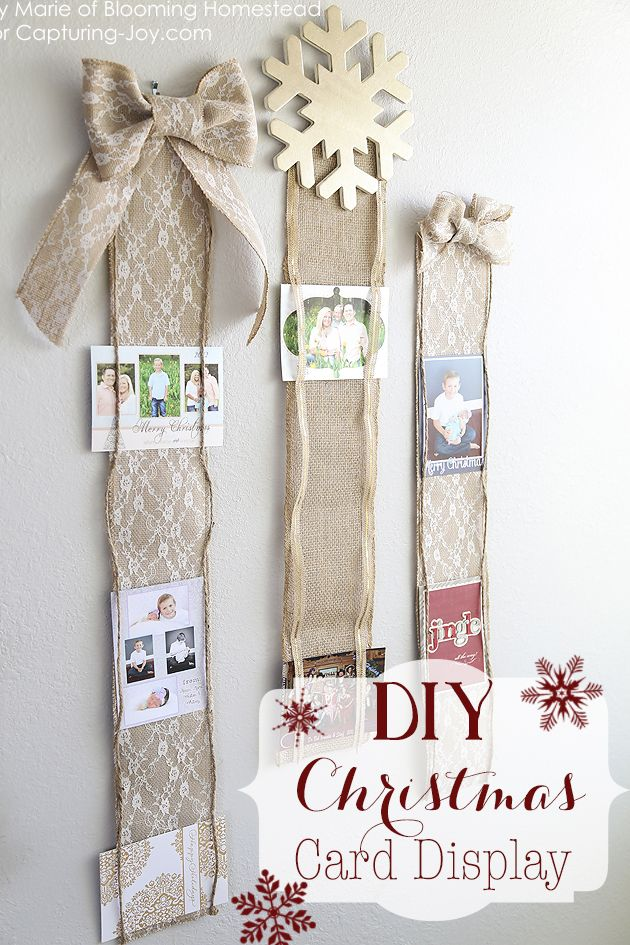 The perfect way to display all the wonderful Christmas and Holiday cards you'll receive this year. This DIY Christmas Card Display is a quick and easy craft that you can create in under 30 minutes!