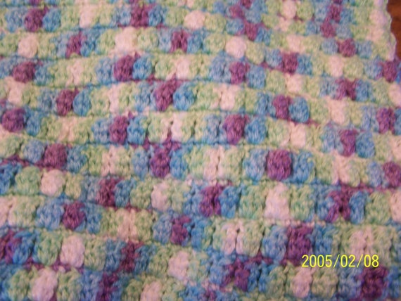 23 x 25 Cozy soft baby blanket in variegated by StepstoAdoption, $24.50
