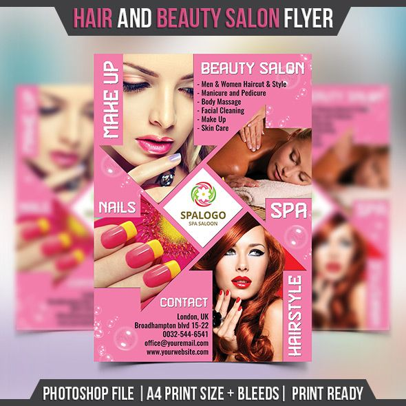 9 best エステ images on Pinterest Flyer template, Advertising - hair salon flyer template