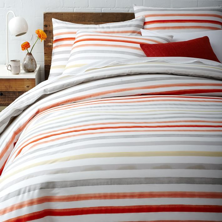 Discover The Range Of Colorful Bedding And Textiles From West Elm U2014  Including Striped Duvets, Quilts, Coverlets, Sheet Sets And Pillows.