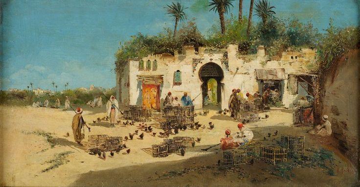 Vito Pardo - Marché Orientale aux portes d'Alger - fin du XIXe siècle