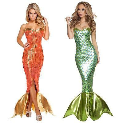 Mermaid-Costume-Adult-Sexy-Halloween-Fancy-Dress