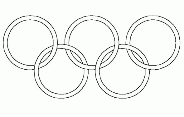 olympic rings coloring pages  dot day  pinterest