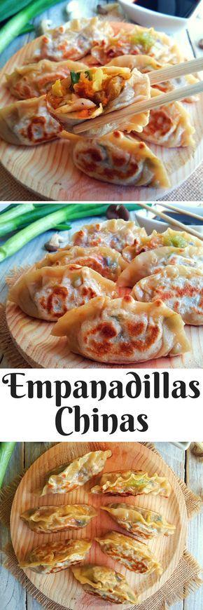 Empanadillas china vegetarianas. Haz tus propios láminas de pasta para wonton para estar seguro que están libres de todo producto animal.