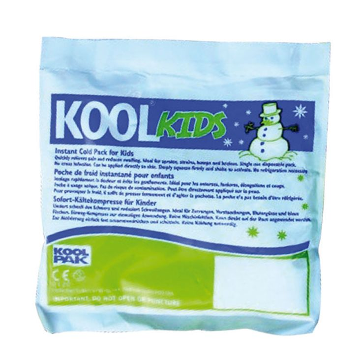 KOOLPAK KIDS INSTANT ICE PACK - extremely popular in schools and the compact size is ideal for keeping in first aid kits or kit bags.