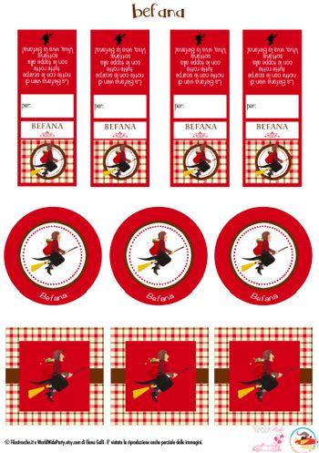 Etichette per l'Epifania: decora i dolci per la Befana - Filastrocche.it