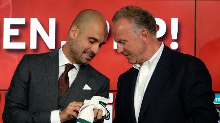 Josep Pep Guardiola : Rummenigge seeks to extend Guardiola's contract wi...