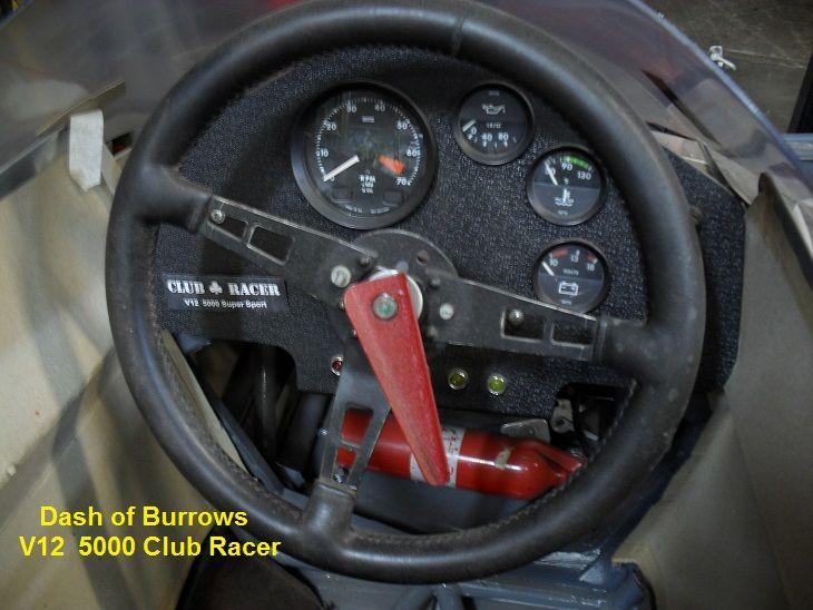 Dash & Cockpit of Burrows V12 5000