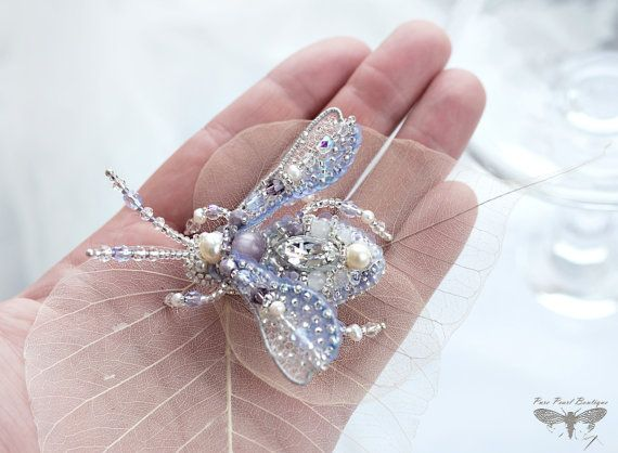 Sparkly and shiny Beetle brooch - unique and exquisite hand embroidered jewelry inspired by Nature - will be wonderful gift for beloved person and dear friend or it perfectly complement your own unique jewelry collection. Magnificent as birthday gift, anniversary gift, wedding gift, graduation gift, excellent holiday gift.  Beautiful, hand-embroidered Beetle with delicious wings - for your special day from my Winter collection. Click on the ZOOM button under the photo to enlarge the photo…
