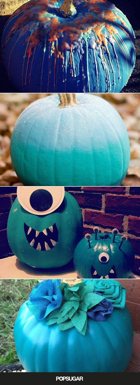 Pin for Later: 29 Insanely Creative Ways to Decorate Your Teal Pumpkin For the #TealPumpkinProject
