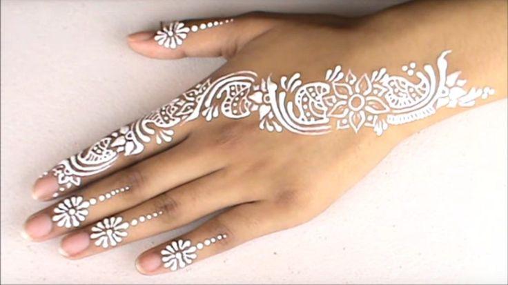 White Henna Design for Beginners (Eid Special) - Tutorial ShowRoom
