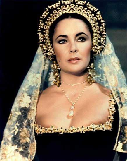 Elizabeth Taylor wanted to play Anne Boleyn to Richard Burton's Henry VIII in the 1969 film Anne of the Thousand Days.  She was told she was too old for the part, & Genevieve Bujold was cast instead. Elizabeth is briefly glimpsed in the film as a courtesan.