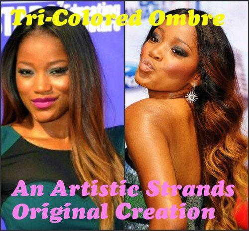 O M B R E Colored Extensions / F U L L Set// T R by ArtisicStrands, $260.00