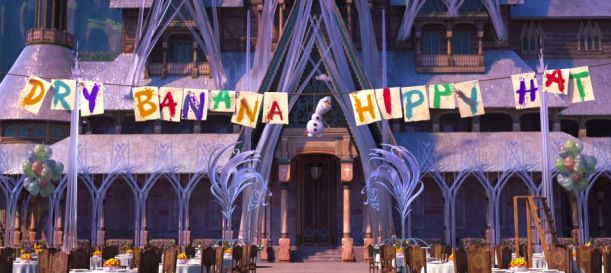 """Re-create this fun banner for your """"Frozen Fever"""" party! :)"""