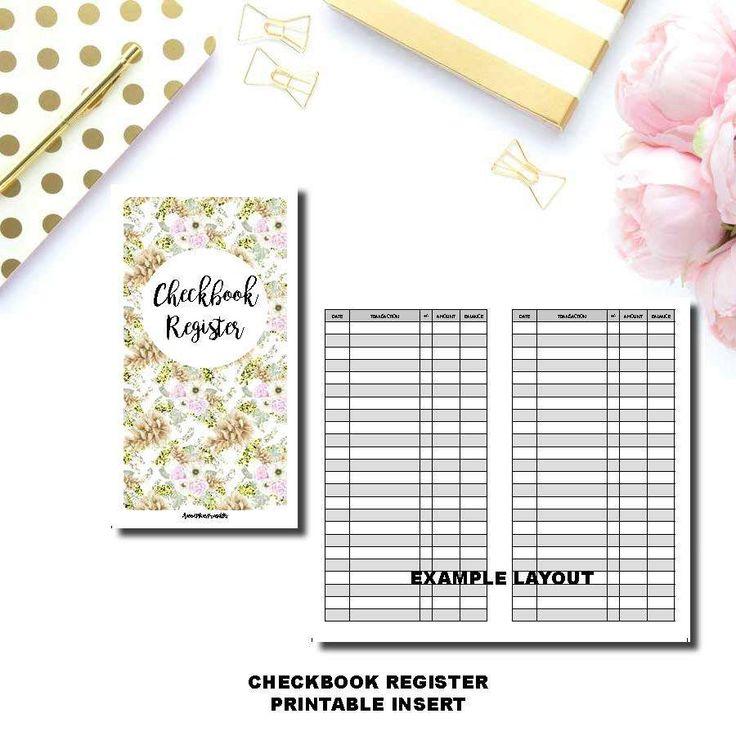 Best  Checkbook Register Ideas On   Check Register