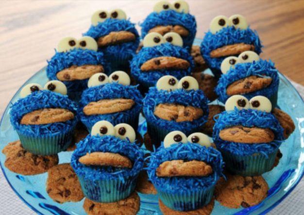 Amazing coockiemonster cupcakes