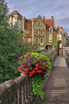 Market town of La Roche Posay, France