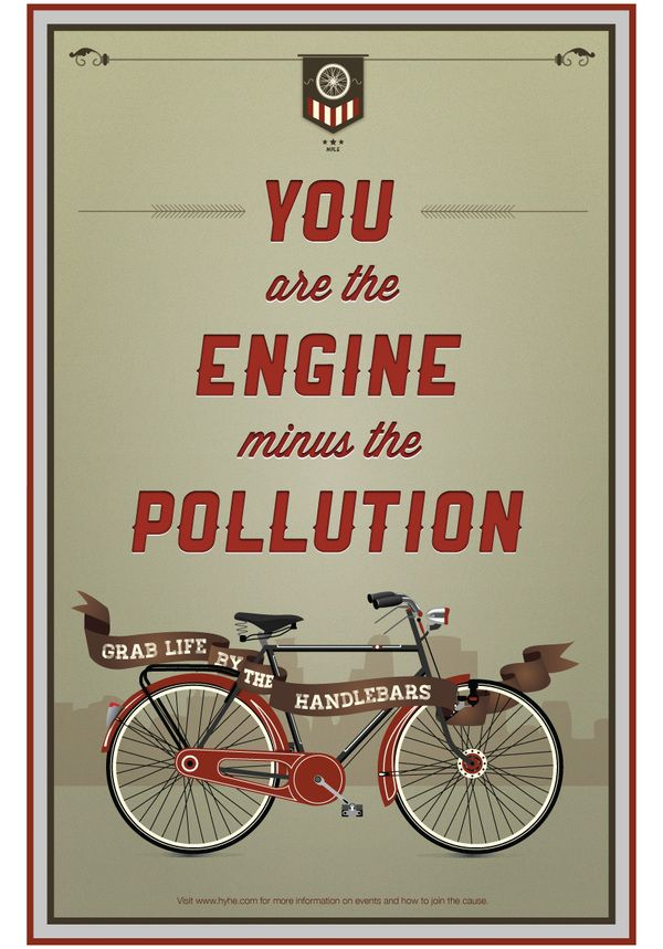 Bicycle Promotion Posters by Danielle Hop, via Behance