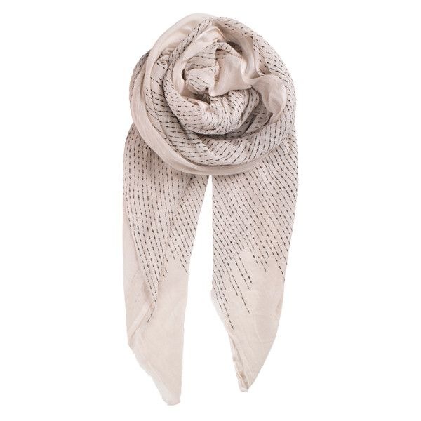 Afia In White Scarf (520 MXN) ❤ liked on Polyvore featuring accessories, scarves, short scarves, white shawl, cotton shawl, cotton scarves and white cotton shawl