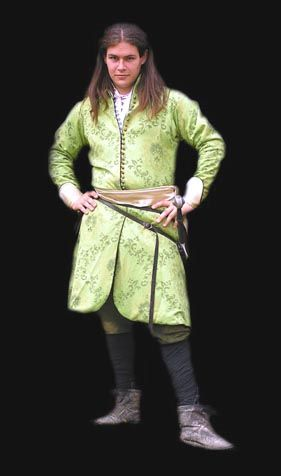 Dolman       Dolman used by Hungarian men in 16th century is made of green brocade with gold sateen lining.