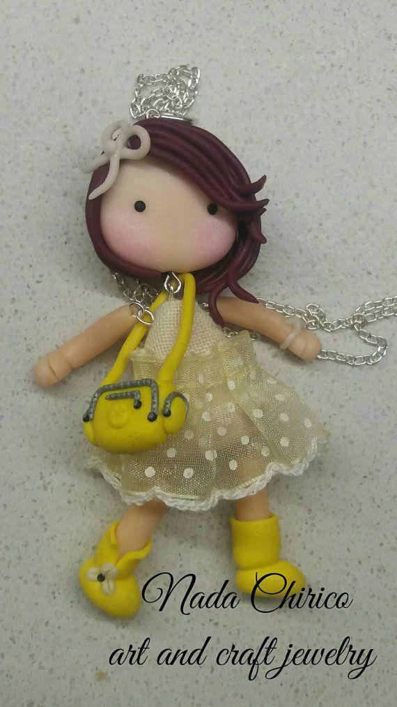 Guarda questo articolo nel mio negozio Etsy https://www.etsy.com/it/listing/476877826/collana-lunga-bambolina-necklace-doll