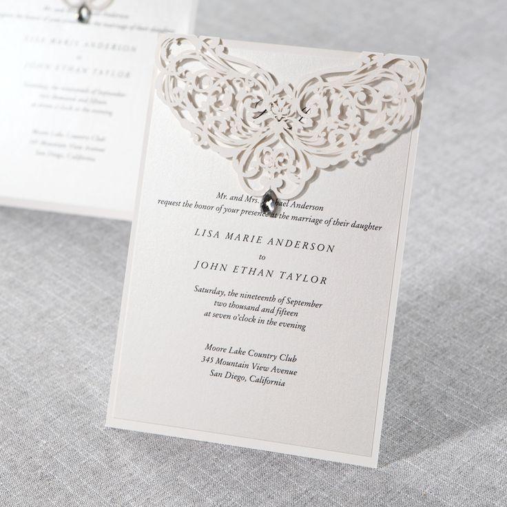 Elegant, Laser Cut Wedding Invites From @bwedding