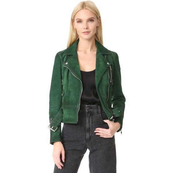 Belstaff Elkstone Coat (€915) ❤ liked on Polyvore featuring outerwear, coats, larch green, green motorcycle jacket, leather biker jacket, biker jackets, belstaff coat and leather moto jackets