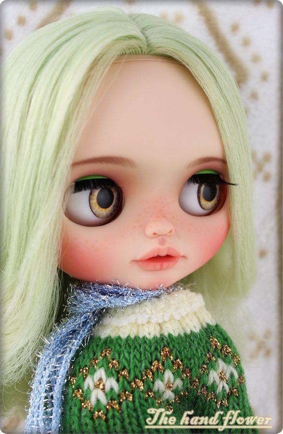 20 % OFF SALE OOAK Custom Blythe Doll Face Up und von Thehandflower