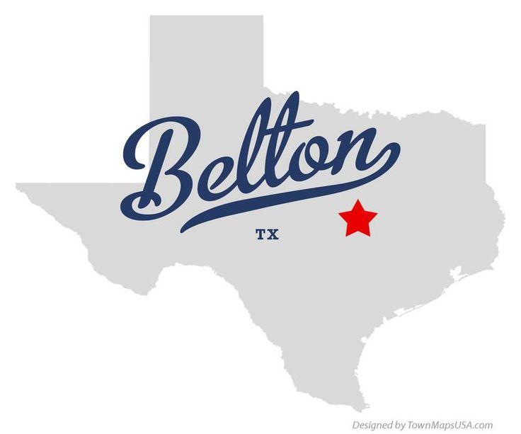 Map of Belton Texas TX