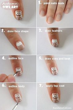 10 + Easy Step By Step Owl Nail Art Tutorials For Beginners 2014